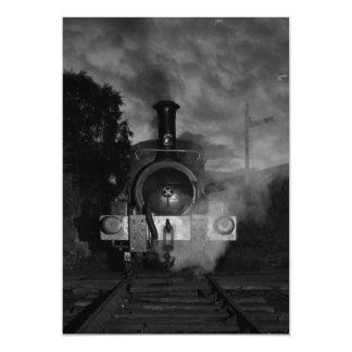 Invitación del motor de vapor