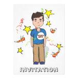 Invitación del muchacho del cumpleaños