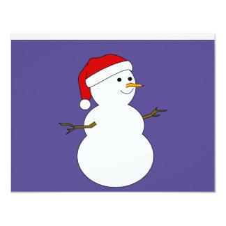 invitación del muñeco de nieve