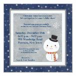invitación del muñeco de nieve del sombrero de