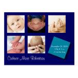 Invitación del nacimiento de 5 fotos postales