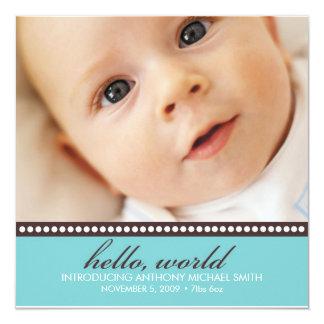 Invitación del nacimiento de la foto