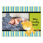 Invitación del nacimiento de la foto - bebé con el invitación 10,8 x 13,9 cm