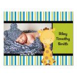 Invitación del nacimiento de la foto - bebé con la invitación 10,8 x 13,9 cm