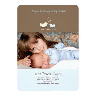 Invitación del nacimiento de la foto de pequeño invitación 12,7 x 17,8 cm