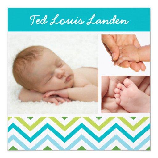 Invitación del nacimiento de la foto del bebé 4 el