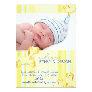 Invitación del nacimiento de la foto del bebé de