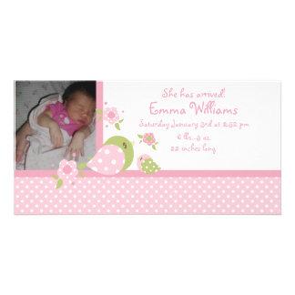 Invitación del nacimiento de la foto del chirrido  tarjeta fotográfica