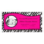 invitación del nacimiento de la foto del estampado tarjetas personales
