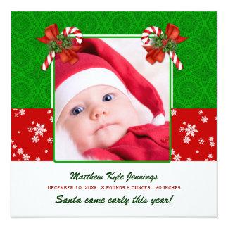 Invitación del nacimiento de la foto del navidad