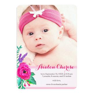 Invitación del nacimiento de la foto/opción