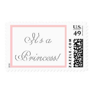¡Invitación del nacimiento de la niña es princesa! Estampillas