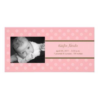 Invitación del nacimiento de la tarjeta de la foto tarjeta con foto personalizada