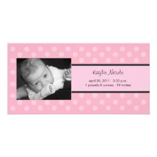Invitación del nacimiento de la tarjeta de la foto tarjetas fotograficas