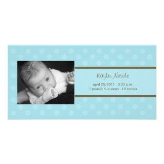 Invitación del nacimiento de la tarjeta de la foto tarjetas personales con fotos