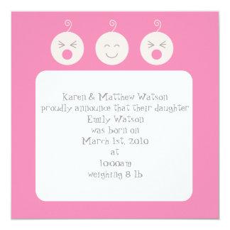 Invitación del nacimiento de los bebés de Tic Tac
