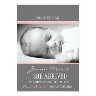 """Invitación del nacimiento del """"bebé agradable"""" invitación 12,7 x 17,8 cm"""