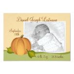 Invitación del nacimiento del bebé de la calabaza