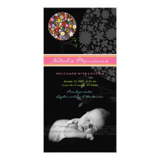 Invitación del nacimiento del bebé del árbol del tarjetas fotográficas personalizadas