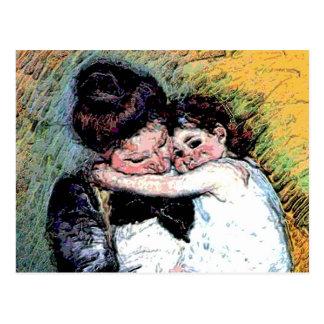 Invitación del nacimiento del bebé y de la madre tarjetas postales
