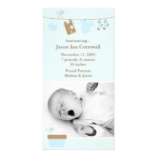 Invitación del nacimiento del lavadero del bebé az tarjetas fotográficas personalizadas