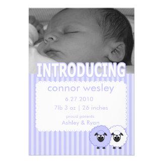 Invitación del nacimiento del muchacho de Wesley