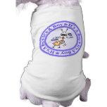Invitación del nacimiento del muchacho camisa de mascota