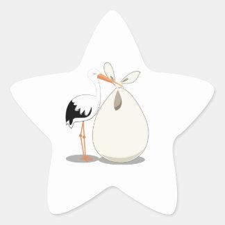 Invitación del nacimiento pegatina en forma de estrella