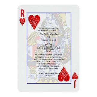 Invitación del naipe de rey Queen Invitación 12,7 X 17,8 Cm