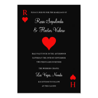 Invitación del naipe del póker del casino de Las Invitación 12,7 X 17,8 Cm
