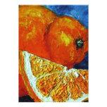 Invitación del naranja y del Tangelo