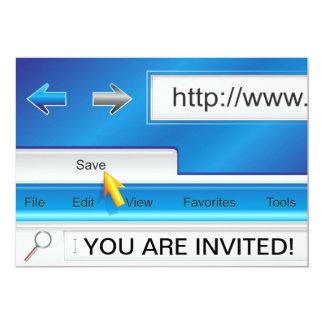 Invitación del navegador del Web page