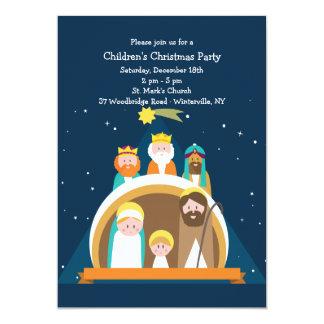 Invitación del navidad de la escena de la