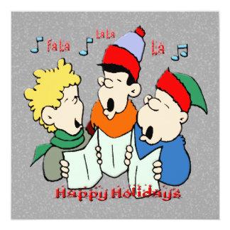 Invitación del navidad de los Carolers del navidad