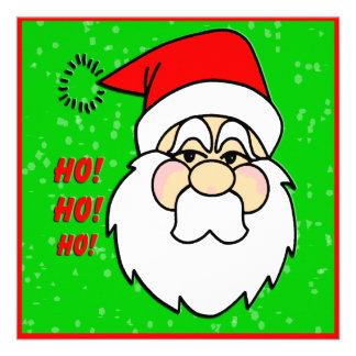 Invitación del navidad de Papá Noel