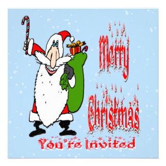 Invitación del navidad del bolso de Santa y del ju