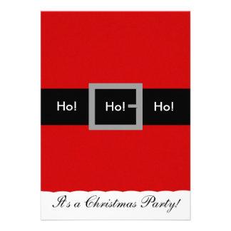 ¡Invitación del navidad del juego de Santa, Ho! ¡,