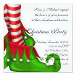 invitación del navidad del zapato del duende