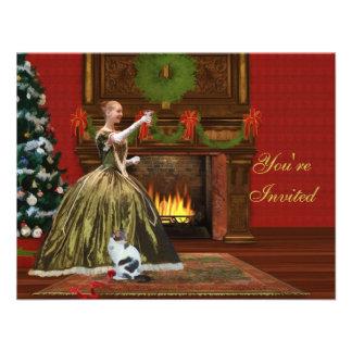 Invitación del navidad hogar del día de fiesta de