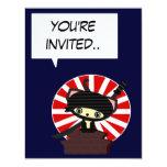 invitación del ninja de Japón del kawaii Invitación 10,8 X 13,9 Cm