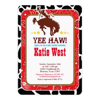 Invitación del oeste occidental de la fiesta de