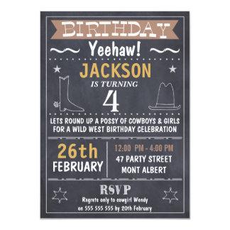 Invitación del oeste salvaje del cumpleaños de la