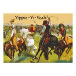 Invitación del oeste salvaje del fiesta de Yippie