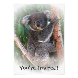 Invitación del oso de koala para cualquier ocasión