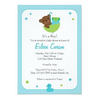 Invitación del oso de peluche