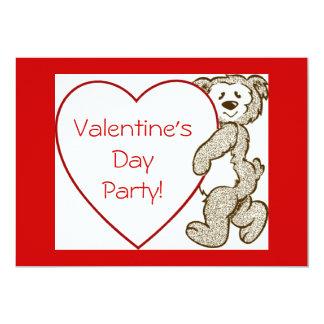 Invitación del oso del el día de San Valentín