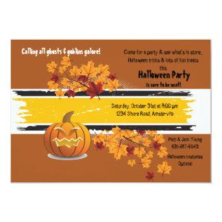 Invitación del otoño de la Jack-O-Linterna