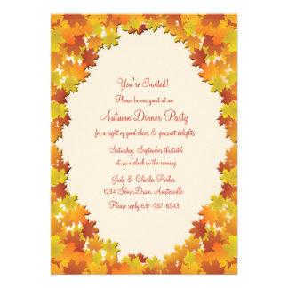 Invitación del óvalo del follaje de otoño