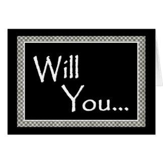 Invitación del padrino de boda - personalizable tarjeta de felicitación