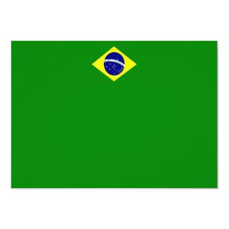 Invitación del paisaje de la bandera del Brasil